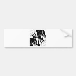 horse pop art bumper sticker