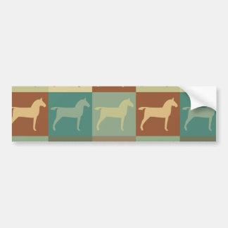 Horse Pop Art Car Bumper Sticker