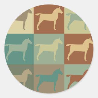 Horse Pop Art Round Sticker