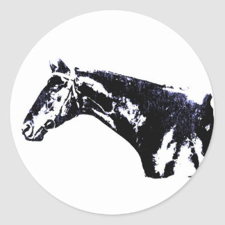 Horse Pop Art Round Stickers