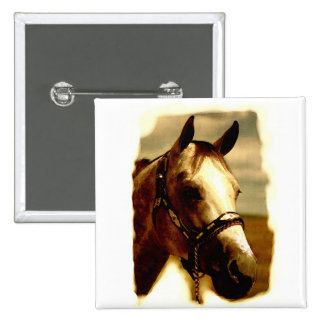 Horse Portrait 15 Cm Square Badge