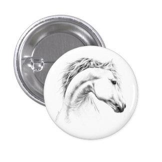 Horse portrait pencil drawing Buttons