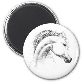 Horse portrait pencil drawing Magnet