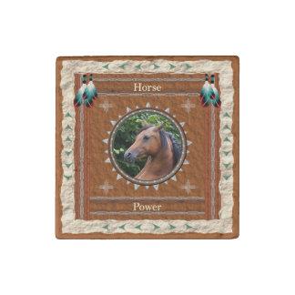Horse  -Power- Primed Marble Magnet