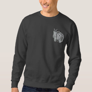 Horse Profile Pair Embroidered Sweatshirt