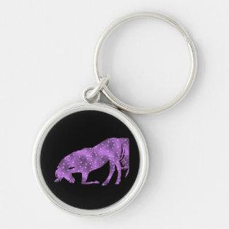 Horse Purple Star Silhouette Key Chain