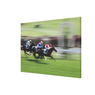 horse race canvas print