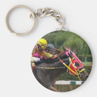 Horse Race Finish Keychain