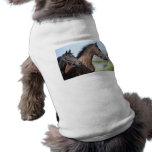 Horse Race Finish Line Doggie Tee Shirt