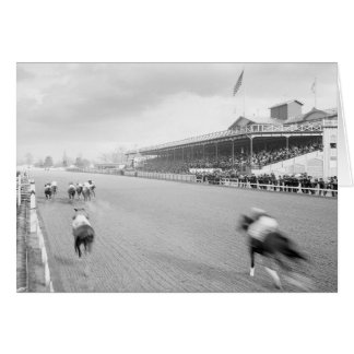 Horse Race in New Orleans, 1906 Greeting Card
