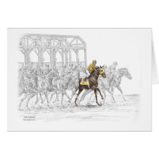 Horse Race Starting Gate Greeting Card