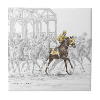 Horse Race Starting Gate Tile