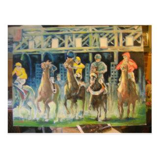 horse races by Hart 002 Postcard