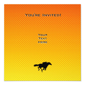 Horse Racing 13 Cm X 13 Cm Square Invitation Card