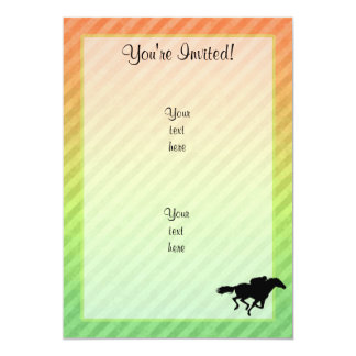 Horse Racing 13 Cm X 18 Cm Invitation Card