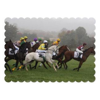 Horse Racing 13 Cm X 18 Cm Invitation Card