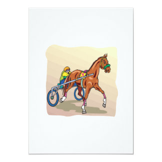 Horse Racing 3 13 Cm X 18 Cm Invitation Card