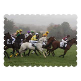 Horse Racing 5x7 Paper Invitation Card
