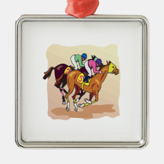 Horse Racing 6 Christmas Ornament