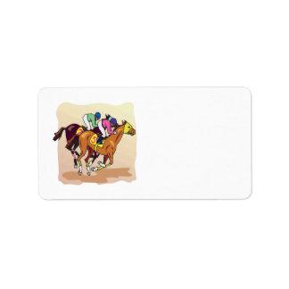 Horse Racing 6 Address Label