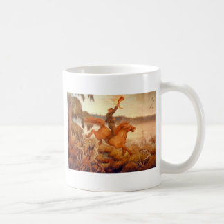 Horse Racing Across the Grass 1902 Basic White Mug