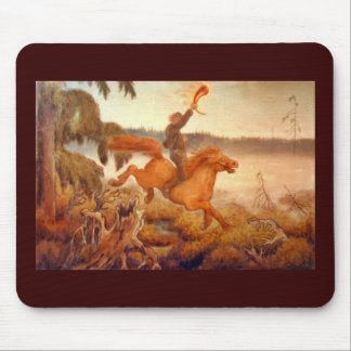 Horse Racing Across the Grass 1902 Mouse Pad