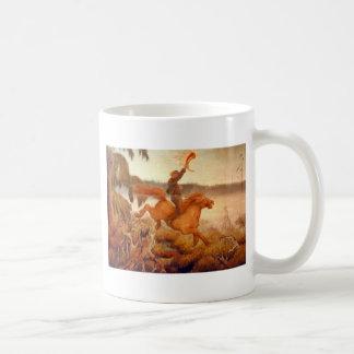 Horse Racing Across the Grass 1902 Coffee Mug