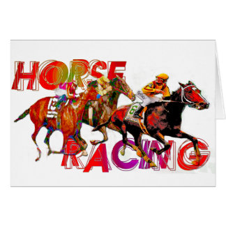 Horse Racing Action Greeting Card