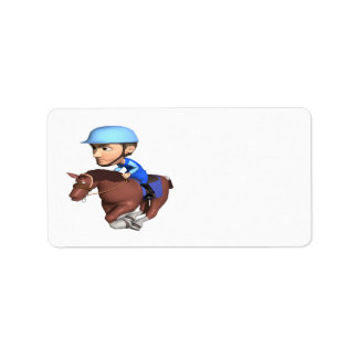 Horse Racing Address Label