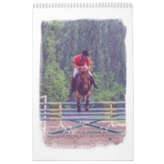 Horse racing at the racetrack wall calendars