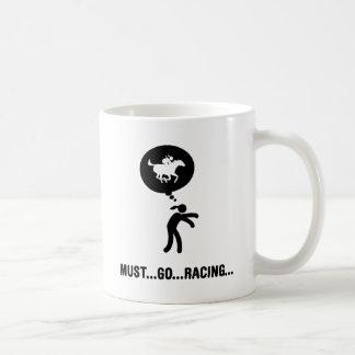 Horse Racing Basic White Mug