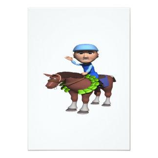 Horse Racing Champion 13 Cm X 18 Cm Invitation Card