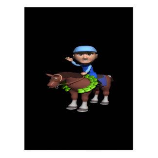 Horse Racing Champion Postcard
