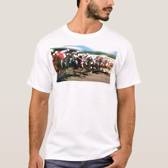 Horse racing – Colourful graphic T-Shirt