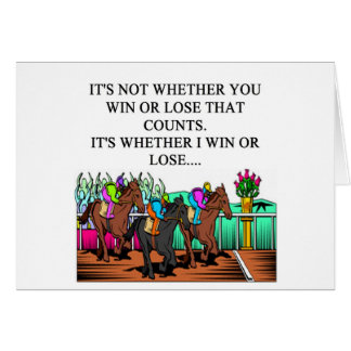 horse racing derby greeting card