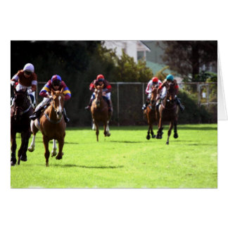 Horse Racing Field Greeting Card