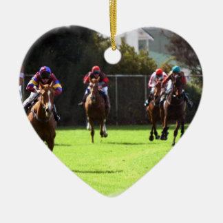Horse Racing Field Ornament