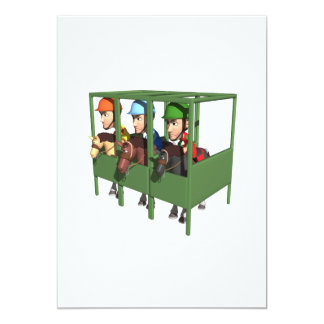 Horse Racing Gate Card