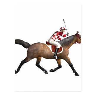 Horse Racing Jockey and Horse Postcard
