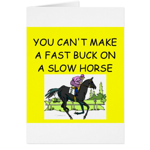 HORSE racing joke Card