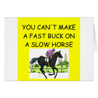 HORSE racing joke Cards
