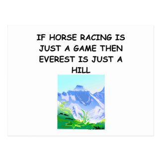 HORSE RACING JOKE POST CARDS