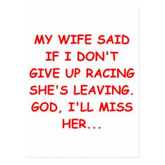horse racing joke postcards