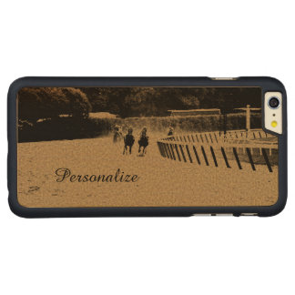 Horse Racing Muddy Track Grunge Carved Maple iPhone 6 Plus Case