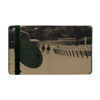 Horse Racing Muddy Track Grunge iPad Cover