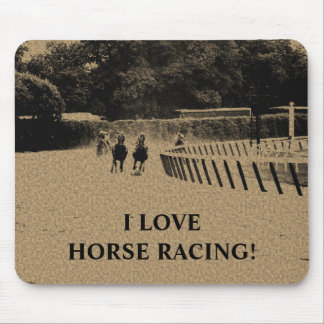 Horse Racing Muddy Track Grunge Mouse Pad