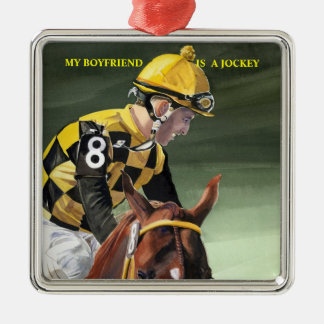 Horse Racing, My Boyfriend is a Jockey Christmas Ornament