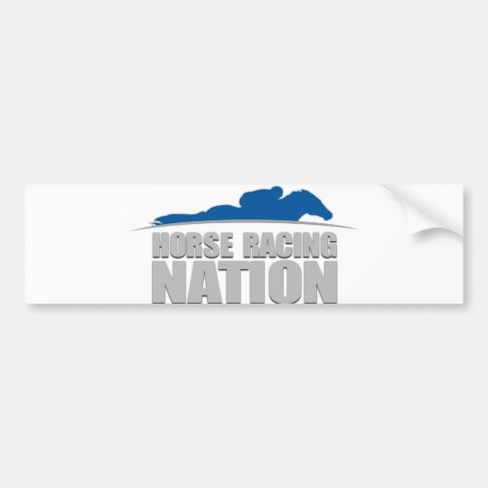 Horse Racing Nation bumper sticker