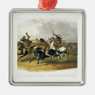 Horse Racing of Sioux Indians near Fort Pierre, pl Christmas Ornament