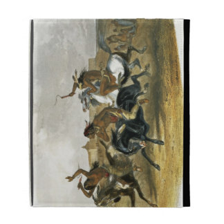 Horse Racing of Sioux Indians near Fort Pierre, pl iPad Folio Cover